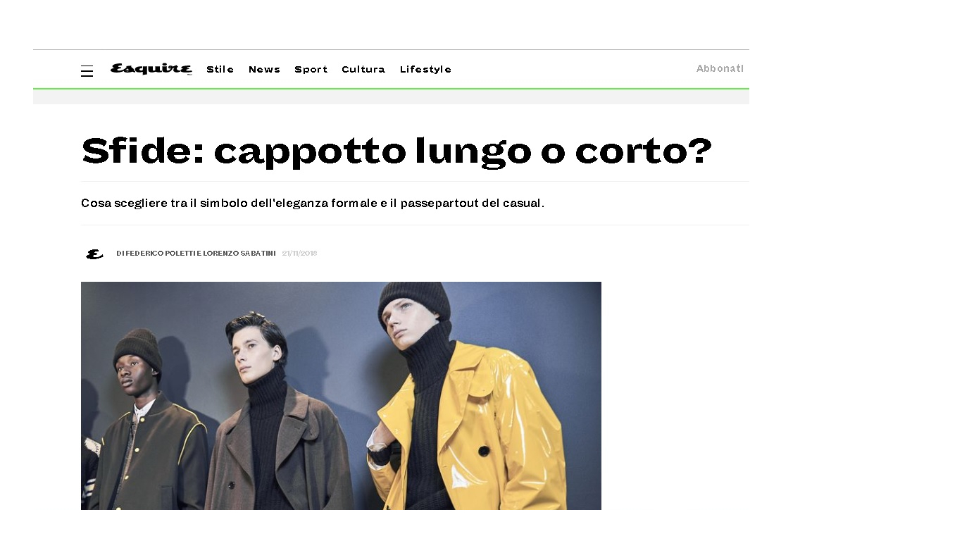 esquire cappotto - linkedin - editor creativo
